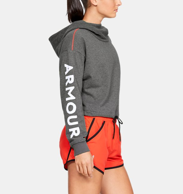 Womens UA Be Seen Terry Crop Hoodie