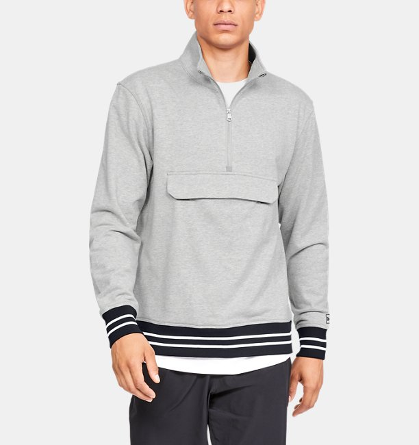 Mens UA Be Seen Terry ¼ Zip