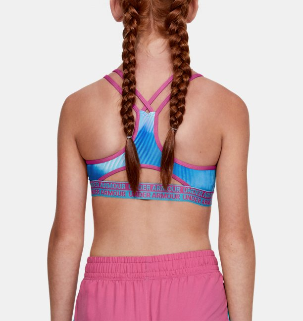 Girls HeatGear® Armour Novelty Sports Bra