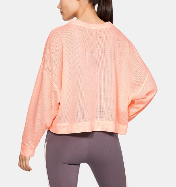 Womens UA Mesh Around Oversize Crew