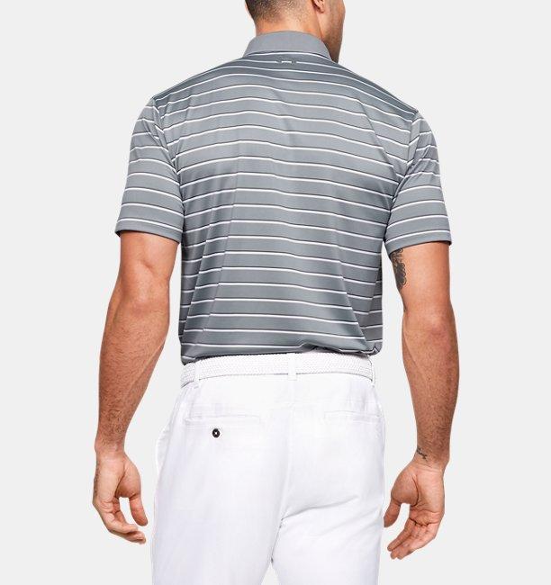 Mens UA Performance Polo Textured Stripe
