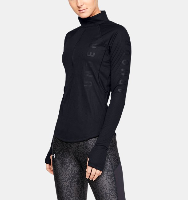 Womens UA Speed Stride Wordmark ½ Zip