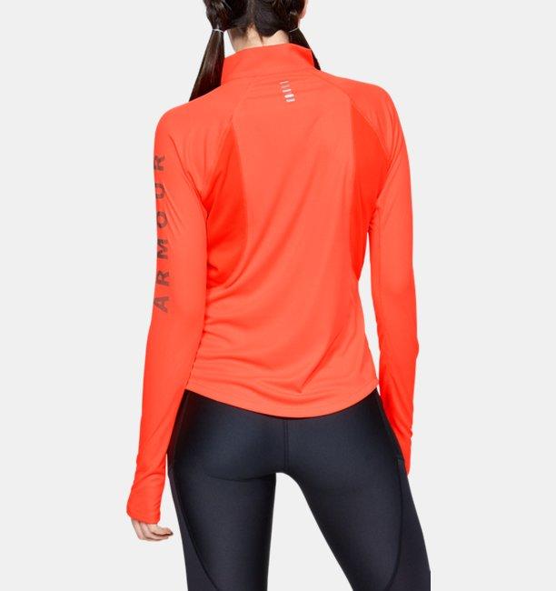 UAスピードストライド スプリット ワードマーク ハーフジップ(ランニング/Tシャツ/WOMEN)