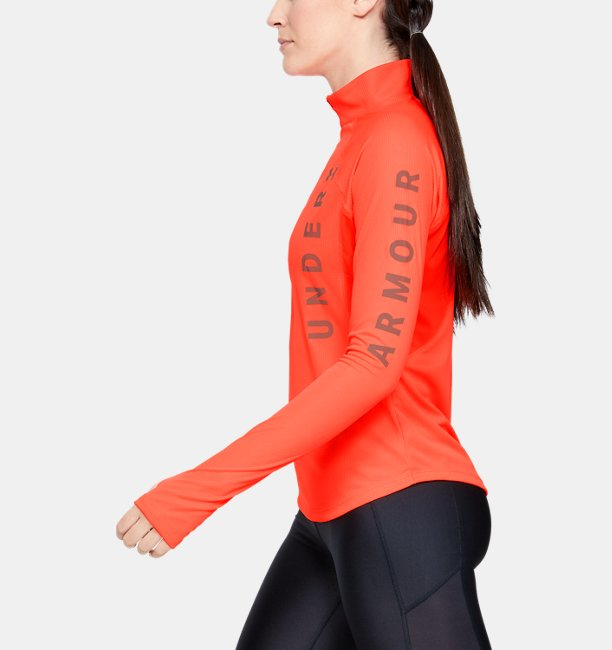 Womens UA Speed Stride Wordmark ½ Zip