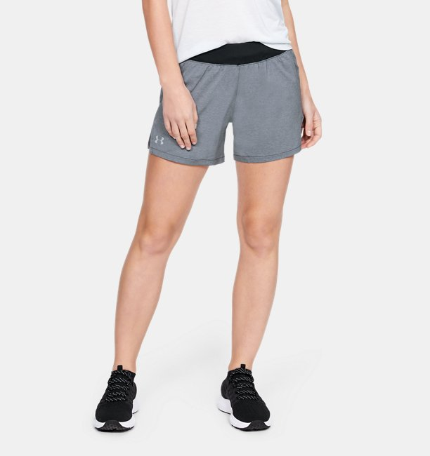 Womens UA Launch SW Go Long Shorts