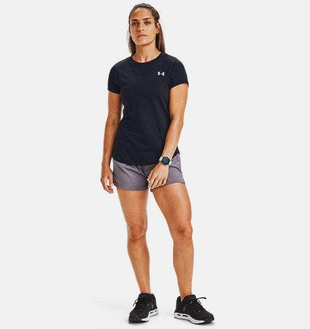 Womens UA Launch SW Go Long Shorts
