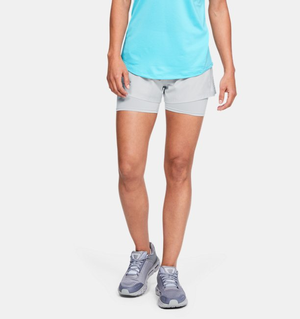 Womens UA Qualifier Speedpocket 2-in-1 Shorts