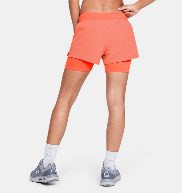 Womens UA Qualifier Speedpocket 2-in-1 Short