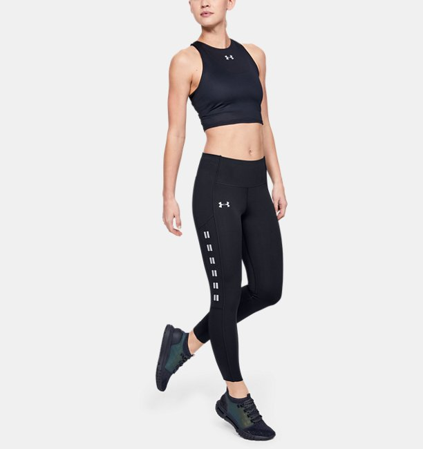 Womens UA Qualifier Speedpocket Roadside Runway Crop