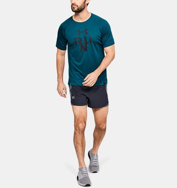 Mens UA Qualifier Glare Short Sleeve