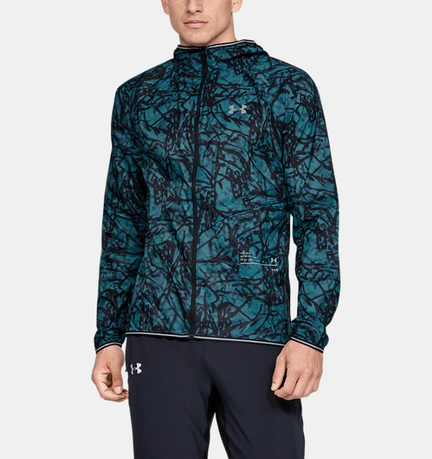 Mens UA Qualifier Storm Glare Packable Jacket