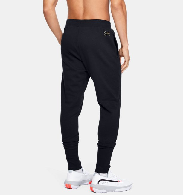Calça Jogger de Basquete Masculina Under Armour Baseline Fleece
