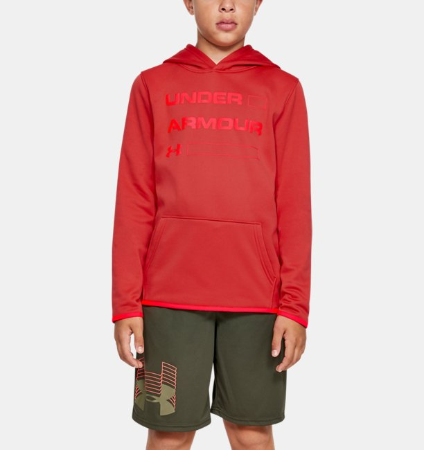 Boys' Armour Fleece® Wordmark Hoodie