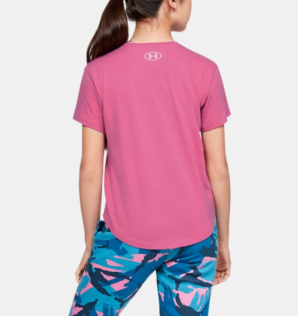 Girls UA Branded Repeat Short Sleeve