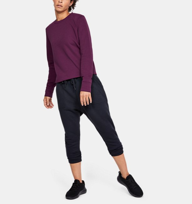 Womens UA Unstoppable Move Light Radial Back Pleat Crew