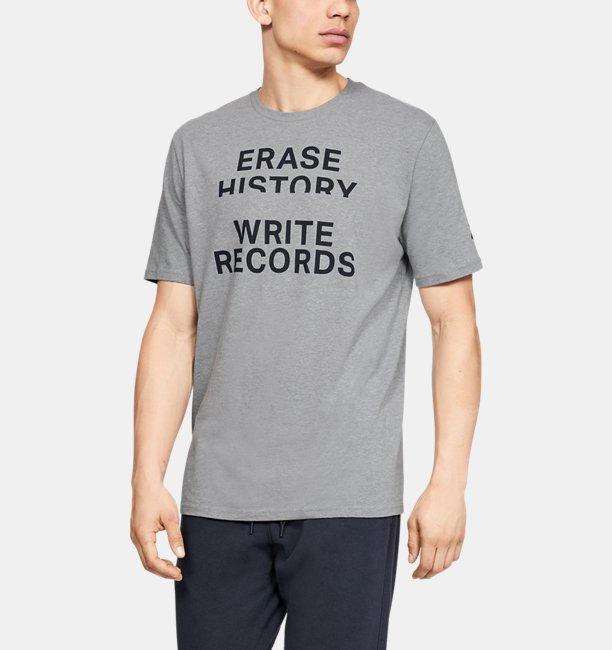 Mens UA Write Records Short Sleeve
