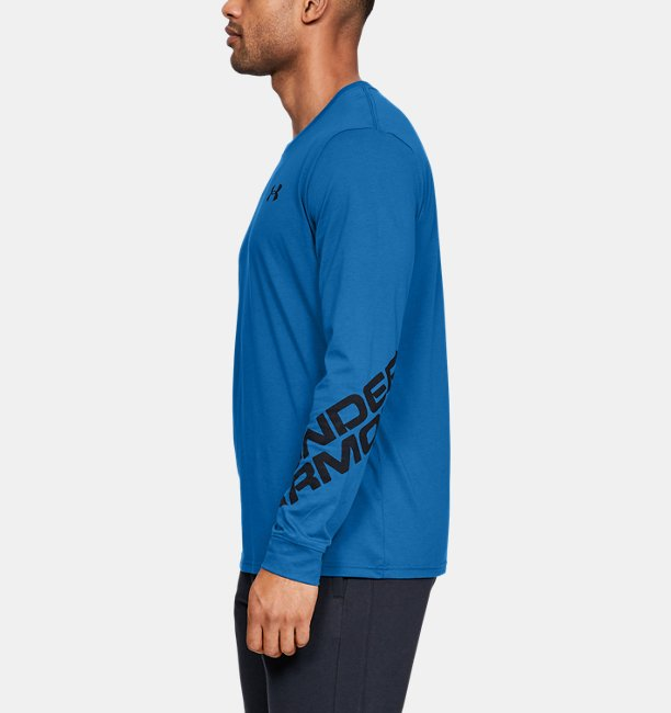 Mens UA Wordmark Sleeve Long Sleeve