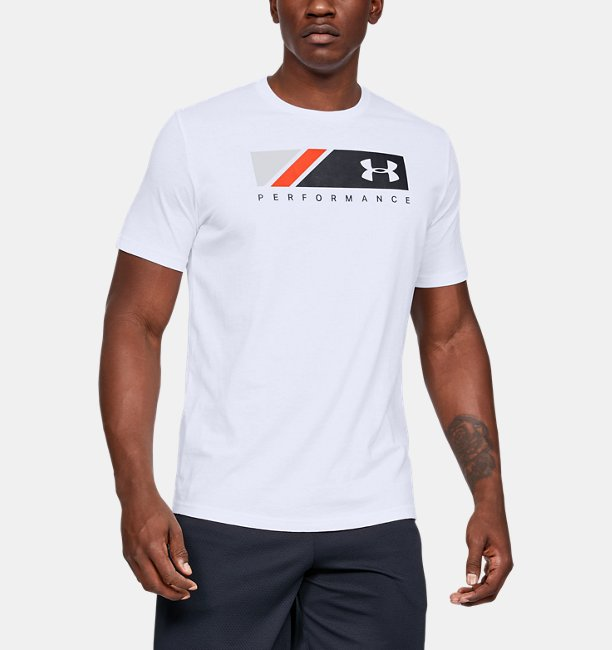 UAロゴ ストライプ ショートスリーブ(トレーニング/Tシャツ/MEN)