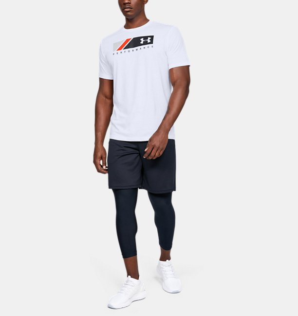 Mens UA Logo Stripe Short Sleeve