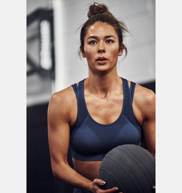 UAバニッシュシームレス ミッド(スポーツブラ/ミディアムサポート/WOMEN)