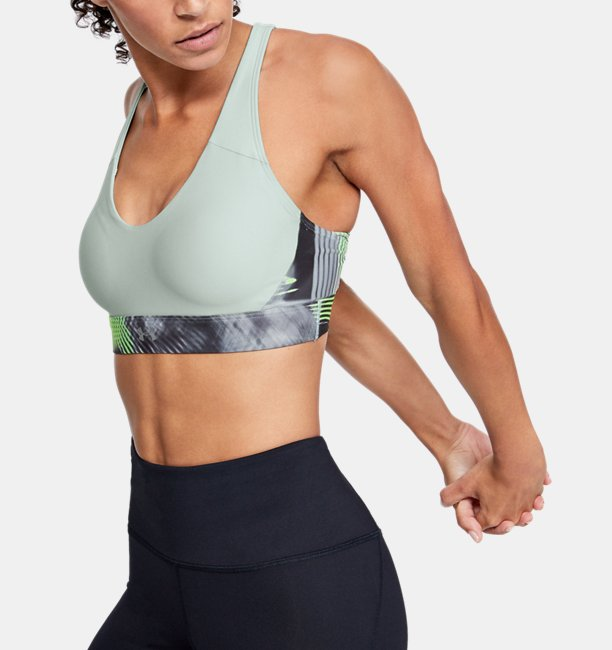 Womens UA Vanish Mid Print Sports Bra