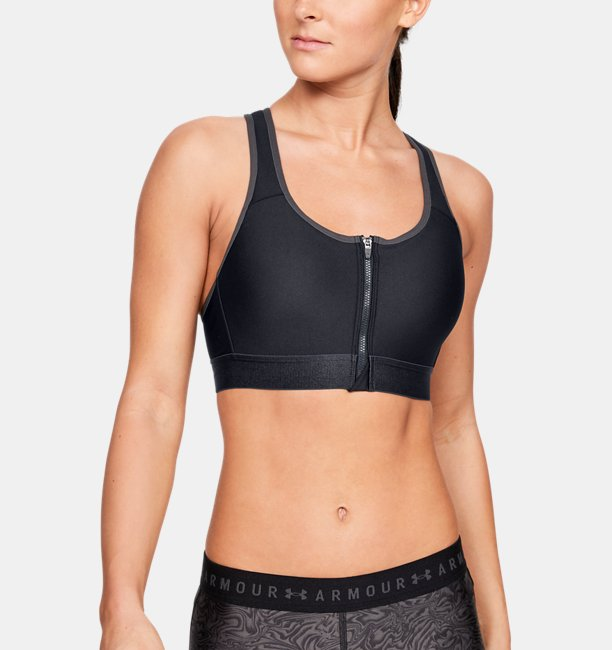 Womens Armour® High Zip Sports Bra