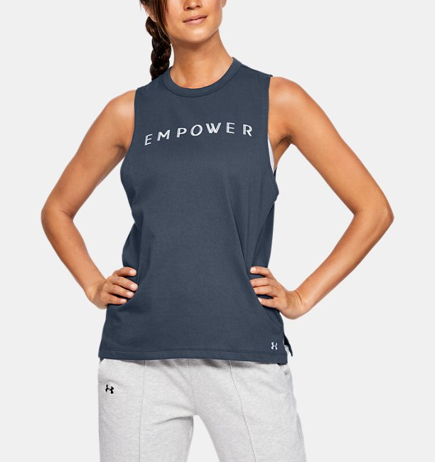 Damestanktop UA Graphic Empower Muscle