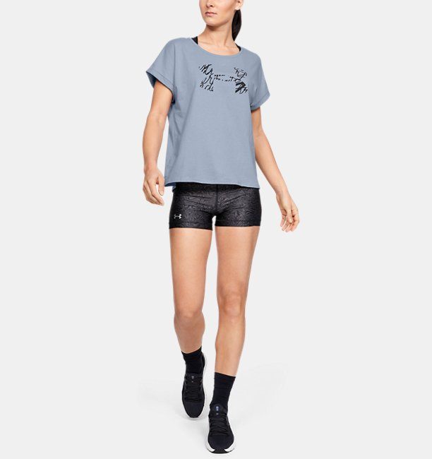 Womens UA Graphic Script Logo Fashion Short-Sleeve Crew