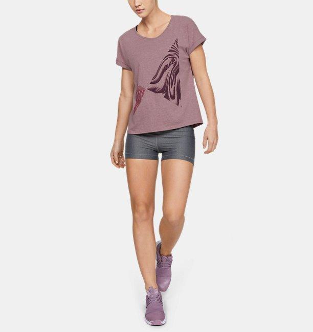 Womens UA Graphic Entwined Print Fashion Short Sleeve Crew