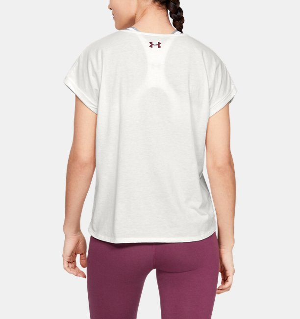 Womens UA Graphic Entwined Fashion Short-Sleeve Crew