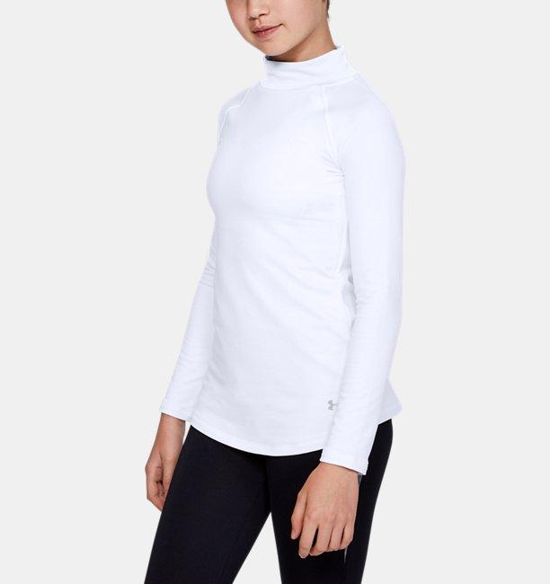 Camiseta de manga larga con cuello cerrado ColdGear® para niña