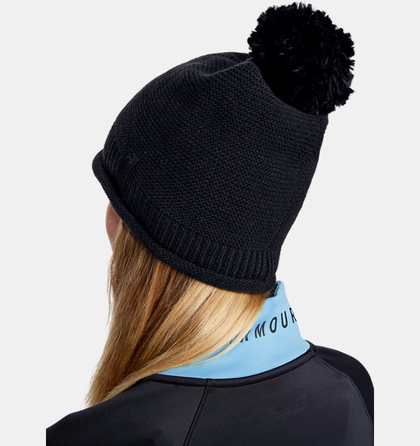 Womens UA Roll Out Pom Beanie
