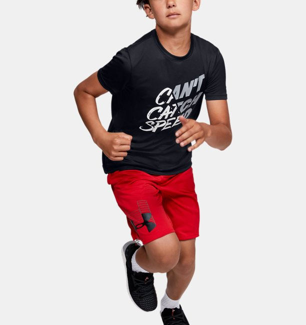 Boys UA Cant Catch Speed Short Sleeve