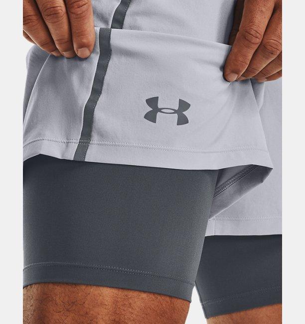 Mens UA Qualifier 2-in-1 Shorts