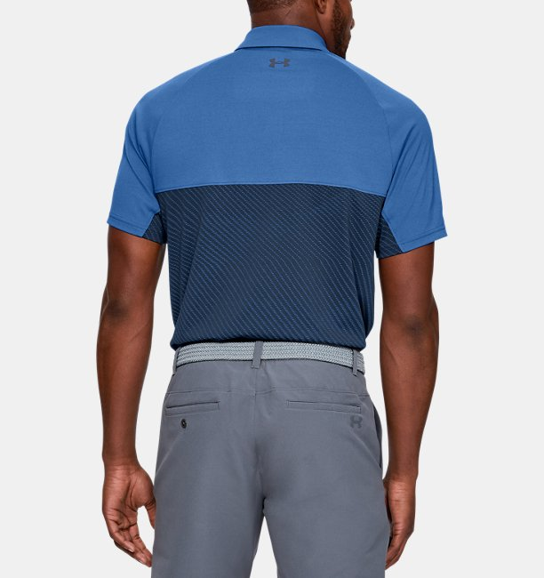 Mens UA Vanish Blocked Polo