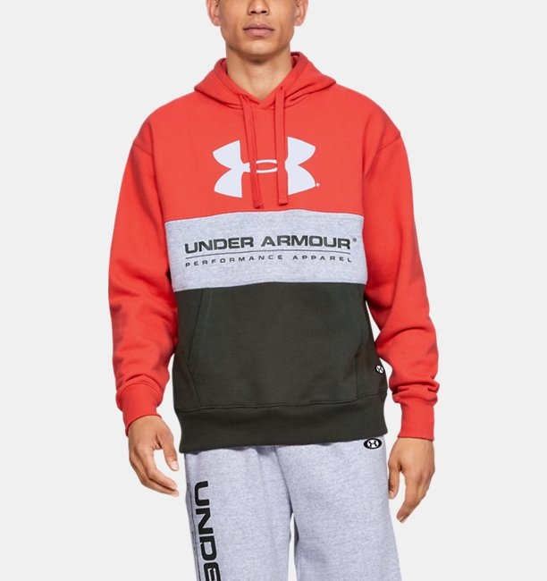 Mens UA Performance Originators Fleece Logo Hoodie