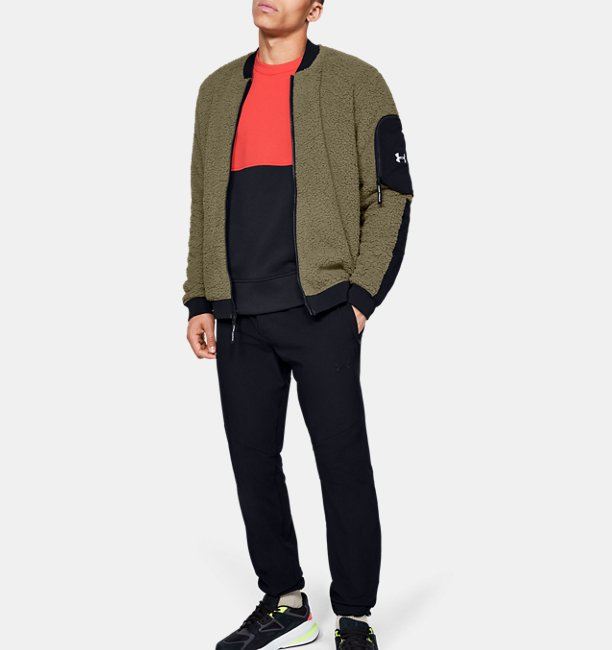 Chamarra Bomber UA Overtime Sherpa para Hombre