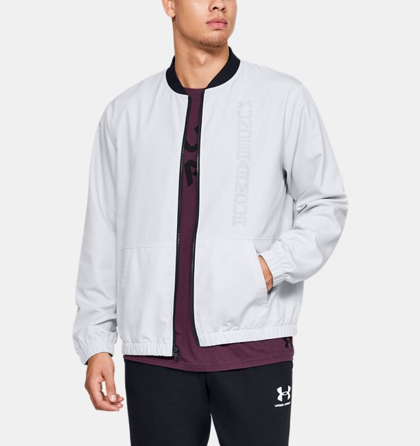 Mens UA Unstoppable Essential Bomber Jacket