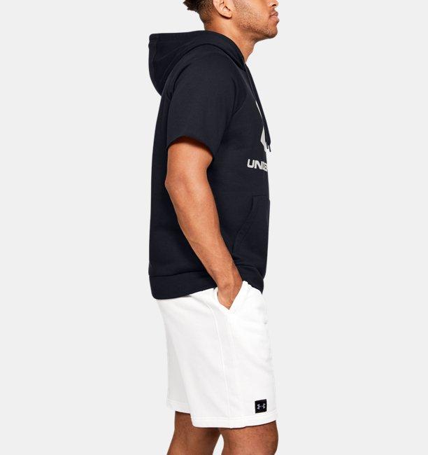 Herenhoodie UA Rival Fleece Logo met korte mouwen