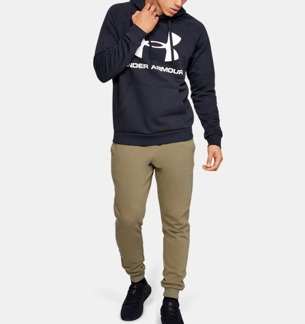 Mens UA Rival Fleece Logo Joggers