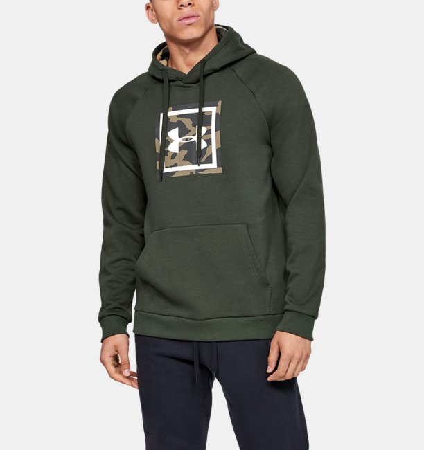 Herenhoodie UA Rival Fleece Printed