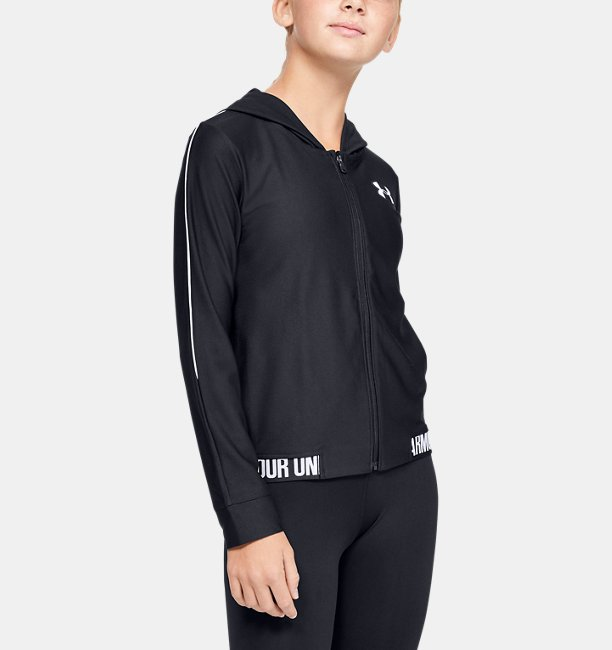 Girls UA Play Up Full Zip Jacket