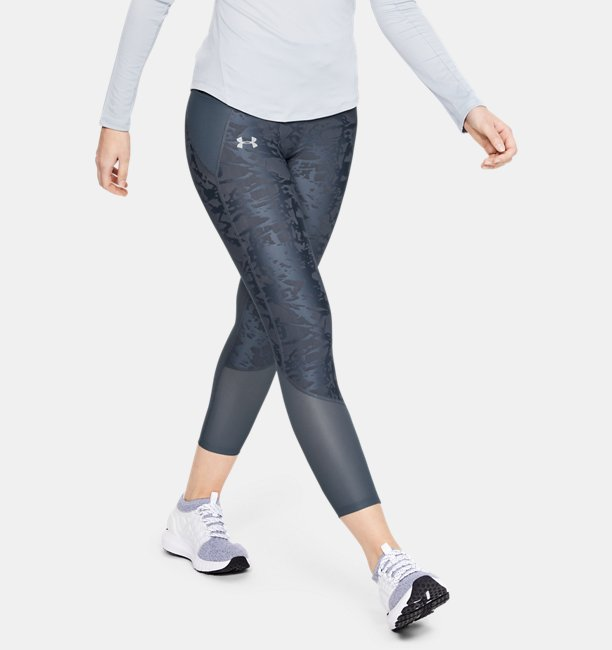 Womens UA Qualifier Speedpocket Smudged Crop