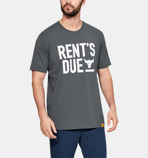 Mens Project Rock Rents Due Short Sleeve T-Shirt