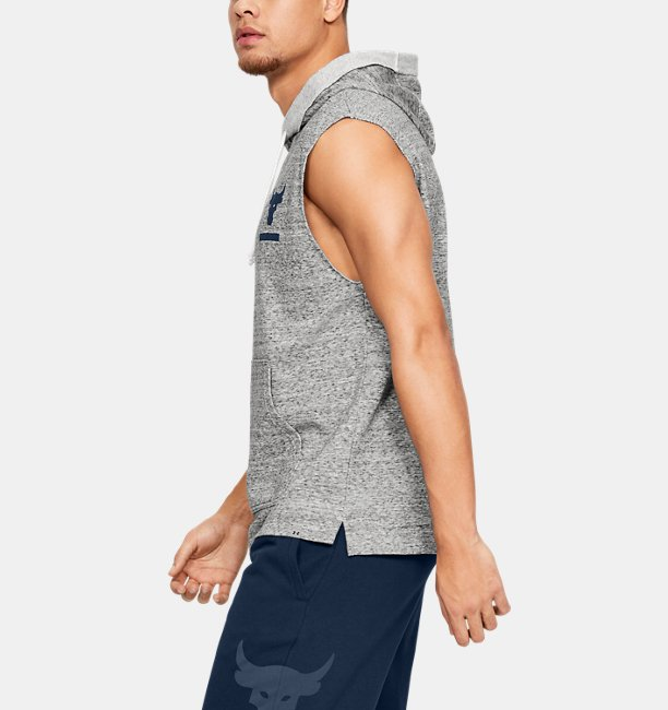 Mens Project Rock Terry Sleeveless Hoodie