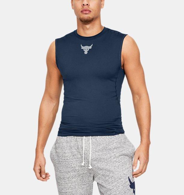 UA PROJECT ROCK ヒートギアアーマースリーブレス(トレーニング/袖なしベースレイヤー/MEN)