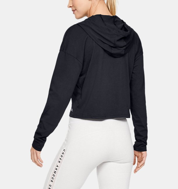 Womens UA Taped Crop Hoodie