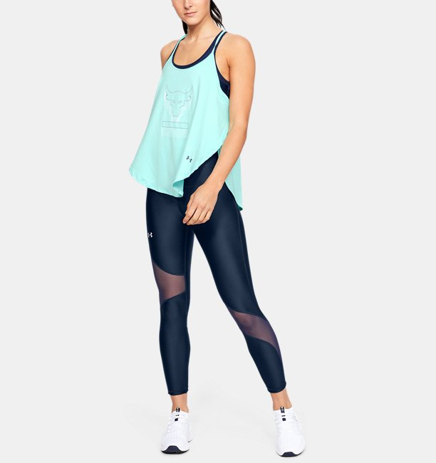 Womens Project Rock Bull Graphic Armour Sport Tank