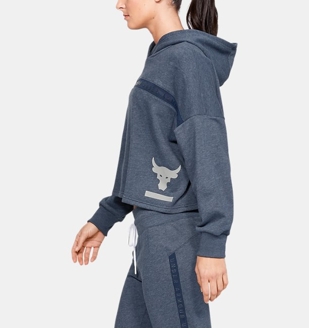 Womens Project Rock Taped Fleece Hoodie