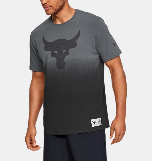Mens Project Rock Bull Graphic Short Sleeve